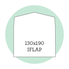 Envelope liner template 130x190 iflap