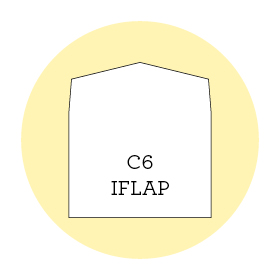 Envelope liner template C6 iflap