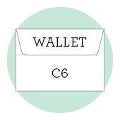 C6 wallet envelopes