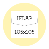 105x105 iflap envelopes