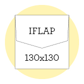 130x130 iflap envelopes