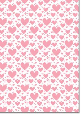 Designer Textured A4 Paper 104gsm Pop Hearts Tickled Pink