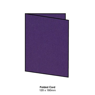 Curious Metallic 120x180 Folded Card 300gsm Violette
