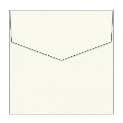 Curious Metallic 150x150 iflap Envelope 120gsm White Gold