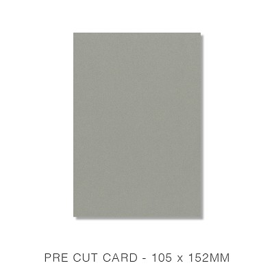 Eco Luxury 105x152 Pre Cut Card Pack 50 216gsm Iron Bark