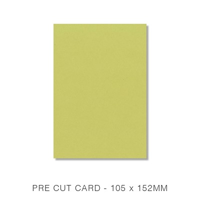 Eco Luxury 105x152 Pre Cut Card Pack 50 216gsm Lime Fizz