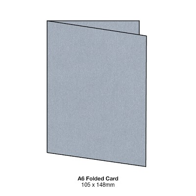 Curious Metallic A5 Folded Card 250gsm Galvanised