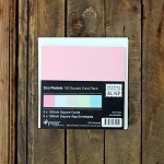 Ipaper 130x130mm Square Card Pack Eco Pastels Pack 5