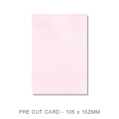 Coco Linen 105x152 Pre Cut Card Pack 50 170gsm Petite Pink