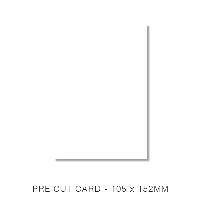 Marshmallow 105x152 Pre Cut Card Pack 50 261gsm Crisp White