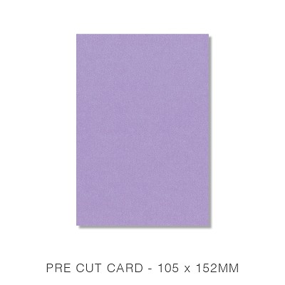 Stardream 105x152 Pre Cut Card Pack 50 285gsm Amethyst