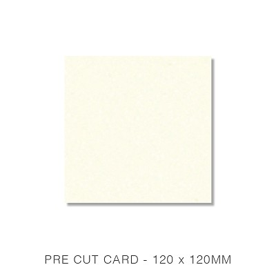 Marshmallow 120x120 Pre Cut Card Pack 50 261gsm Warm Ivory