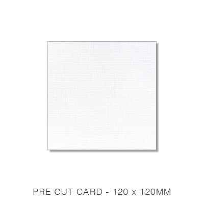 Versa Linen 120x120 Pre Cut Card Pack 50 216gsm Brilliant White