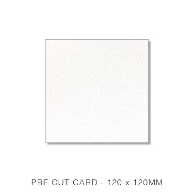 Versa Felt 120x120 Pre Cut Card Pack 50 216gsm Brilliant White