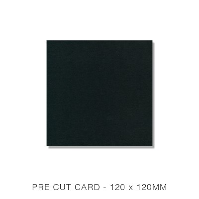 Bloom 120x120 Pre Cut Card Pack 50 270gsm Ebony