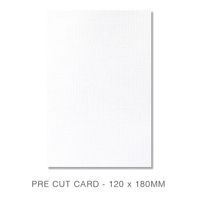 Versa Linen 120x180 Pre Cut Card Pack 50 270gsm Brilliant White