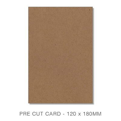 Buffalo Board 120x180 Pre Cut Card Pack 50 283gsm Natural Brown