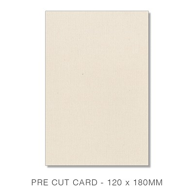 Coco Linen 120x180 Pre Cut Card Pack 50 170gsm Calico