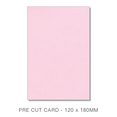 Glamour Puss 120x180 Pre Cut Card 250gsm Fairy Pink