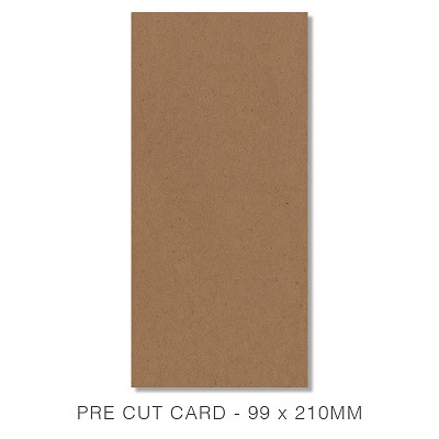 Buffalo Board 99x210 Pre Cut Card Pack 50 283gsm Natural Brown