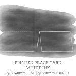 90x140 Printed Place Card White Ink