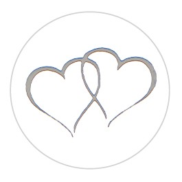 Ipaper Foil Seal Twin Heart Silver