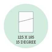 125x185 15 Degree
