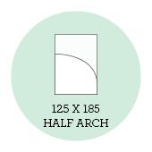 125x185 Half Arch