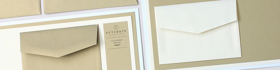 Curious Metallic paper and card