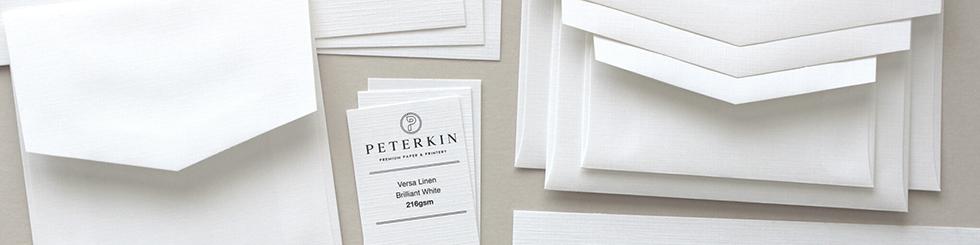 Versa Linen paper and card
