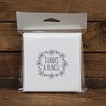 Thanks A Bunch Square Printed Card Pack Blanc Pack 10 <br> <span class=sale>On Sale</span>