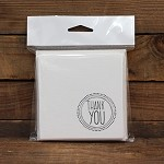Thank You Stamp Square Printed Card Pack Ivoire Pack 10 <br> <span class=sale>On Sale</span>