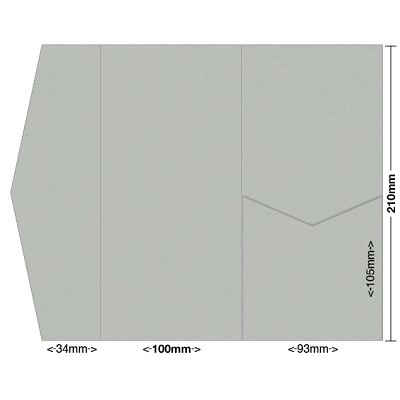 Gmund Colors 100x210 Pocket Style A 300gsm Chalk Grey-45