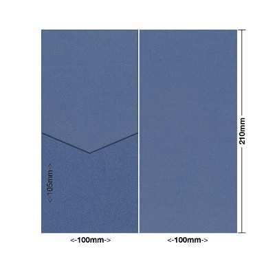Glamour Puss 100x210 Pocket Style E 285gsm Blue Steel