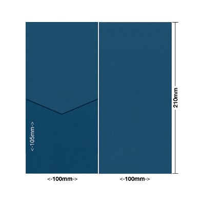 Bloom 100x210 Pocket Style E 270gsm China Blue