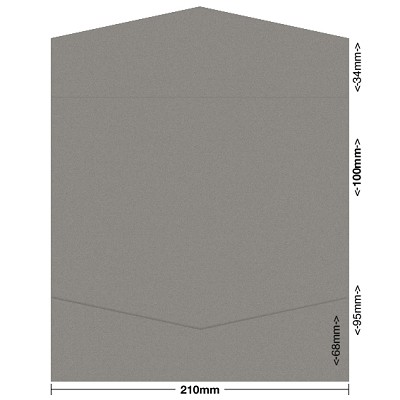 Gmund Colors 100x210 Pocket Style B 300gsm Pewter-93