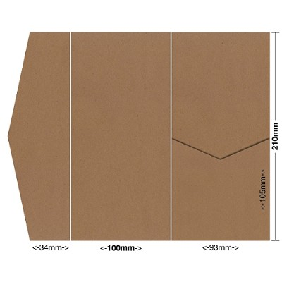 Buffalo Board 100x210 Pocket Style A 283gsm Natural Brown