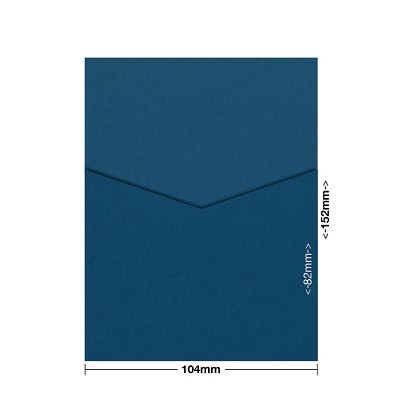 Bloom 104x152 Pocket Style D 270gsm China Blue