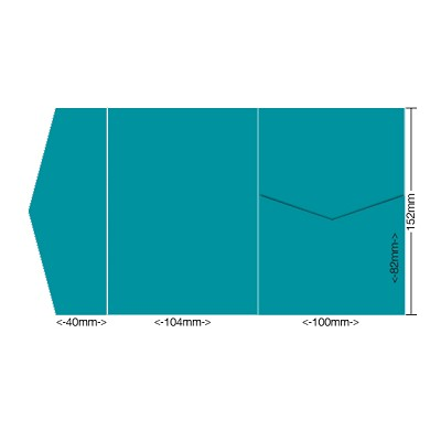 Bloom 104x152 Pocket Style A 270gsm Teal