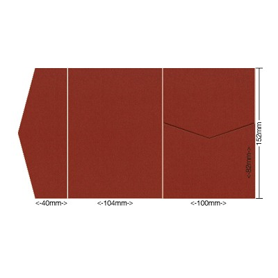 Eco Grande 104x152 Pocket Style A 308gsm Rouge