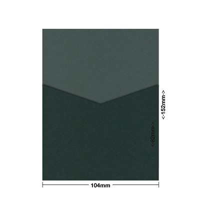 Gmund Colors 104x152 Pocket Style D 300gsm Hunter Green-60