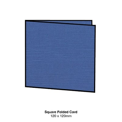 Zsa Zsa 120x120 Folded Card 198gsm Blueberry