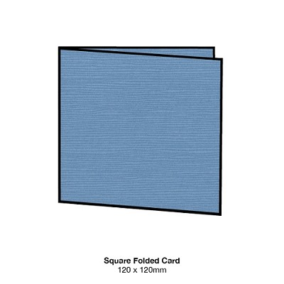 Zsa Zsa 120x120 Folded Card 198gsm Denim