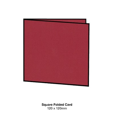 Eco Luxury 120x120 Folded Card 216gsm Devil Red