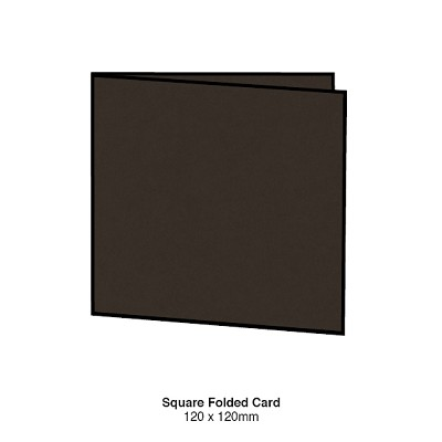 Gmund Colors 120x120 Folded Card 300gsm Chocolate-37