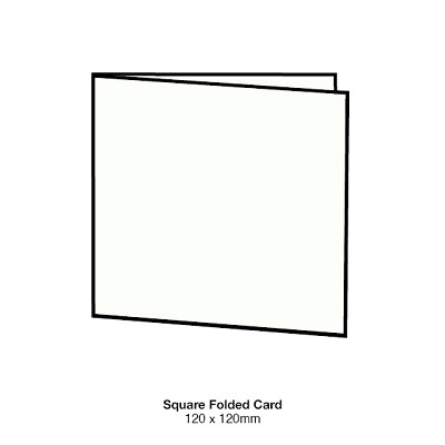 Gmund Colors 120x120 Folded Card 300gsm Winter White-99