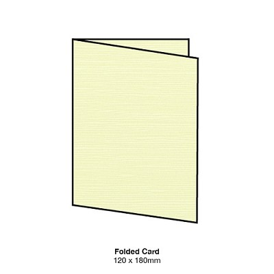 Zsa Zsa 120x180 Folded Card 198gsm Lemon Sorbet