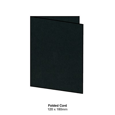 Bloom 120x180 Folded Card 300gsm Ebony