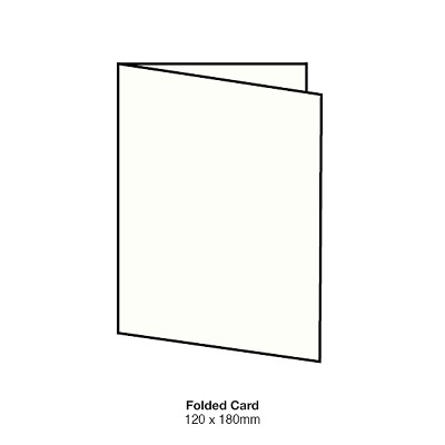 Boston 120x180 Folded Card 350gsm Classic White