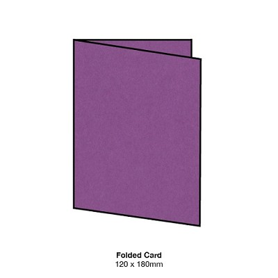 Eco Luxury 120x180 Folded Card 216gsm Beetroot